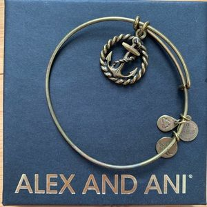 Alex and Ani Anchor Gold Toned Bracelet